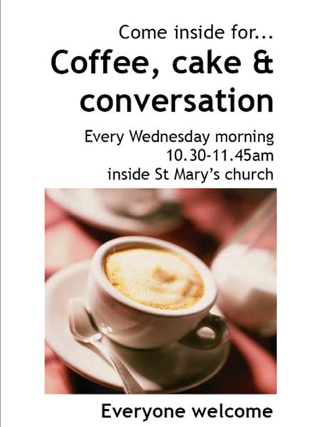 Coffee, Cake and Conversation!